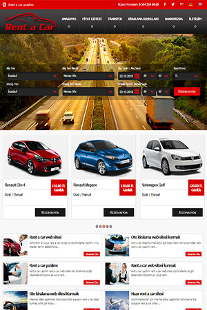 rent a car web sitesi
